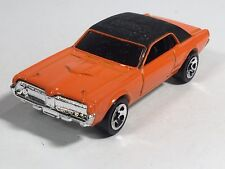 Hot Wheels '68 Mercury Cougar Mainline 2006 Orange Car With Black Roof Malaysia