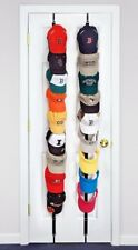 Baseball Cap Rack Closet Hanger Organizer Fits 18 Over Door Hat Holder Coat Hook