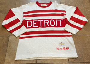 Vintage CCM Heritage Detroit Red Wings Circa 1930 Hockey Jersey Sweater Mens M