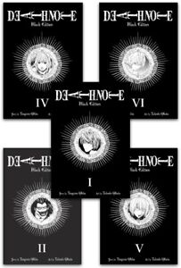 Death Note Black Edition Volume 1,2,4,5,6 Collection 5 Books Set by Tsugumi Ohba