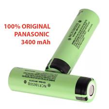 2x PILA RECARGABLE Panasonic 18650 3400mAh Li-ion 3,6V Litio Batería SIN Pr