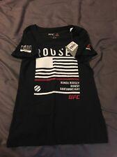 Ronda Rousey Rowdy Fan Support UFC Reebok Shirt Woman's Small Women Combat S