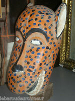 ancien Masque africain. old African mask peint Bozo