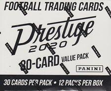 2020 Panini Prestige Football sealed fat pack box 12 packs of 30 NFL cards