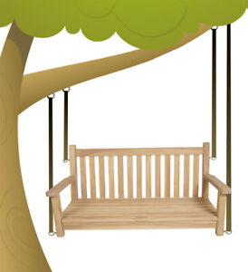 KMH® Teak Baumschaukel Gartenschaukel Hollywoodschaukel Schaukel Bank Holz