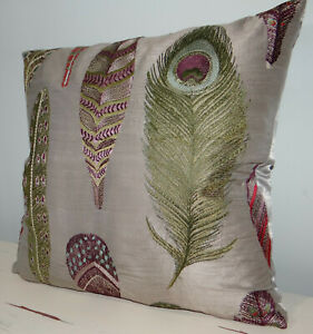"Voyage, Decoration, Samui fabric, Silk, cushion cover, 18x18"""