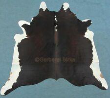 peau de vache fourrure taureau Tapis en noir marron blanc beige (2122) TRICOLORE