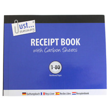Duplicate Receipt Book - Pages 1-80 with 2 Sheets of Carbon Paper