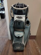 Ping Pioneert LC 14 Divider Golf Cart Bag Blue/Gray w Raincover Putter Well