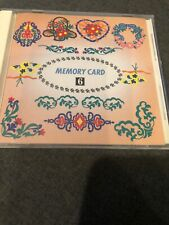 Janome Embroidery Memory Card #6 Floral Design Series Memory Craft 9000