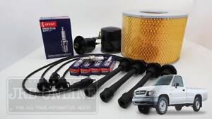 Suits TOYOTA Hilux Workmate 3RZ 2.7L 98-2005 IGNITION LEADS PLUGS FILTER KIT