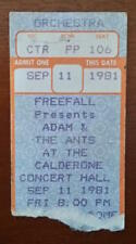 1981 Adam And The Ants Vintage Ticket Stub