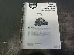 Ferris IS2000Z Zero Turn Riding Mower Parts Manual   5100501