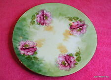 """Royal Art Italy (Hand Painted Roses) 8 1/4"""" PLATE Clear Craze"""