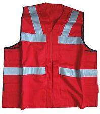 Hi Vis Vest Safety Jacket Hi viz Visibility Waistcoat Reflective Bib