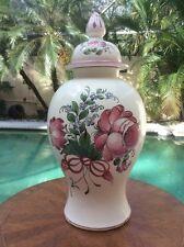Rare Antique Hand Painted French Faience De l'Est Lidded Urn Vase c1780-1890