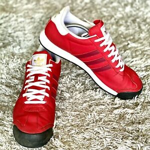 Adidas Samoa Men's Size 12 Red / White / Leather Lace Up Low Top Sneakers F37270