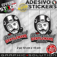Adesivi Stickers CAFE RACER GENTLEMANS RIDE TRIUMPH DUCATI BMW HONDA BOBBER 10cm