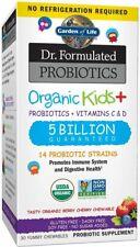 Organic Kids Dr. Formulated Probiotics Plus Vitamins C and D, 30 count