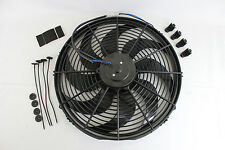 "New 16"" Heavy Duty Radiator Electric Wide Curved Blade FAN 3000 CFM Reversible"