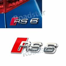 RED CHROME RS6 REAR TRUNK LETTER EMBLEM BADGE STICKER DECAL for AUDI RS CAR BODY