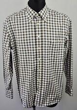 GANT Regular Fit Men's XL Long Sleeved Formal Shirt Casual Checked Brown White