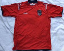 Inglaterra Camiseta de fútbol, Retro Umbro Rojo, Mens tamaño mediano