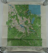 Vintage Lake Tahoe Topographical Map FALLEN LEAF LAKE - 1980