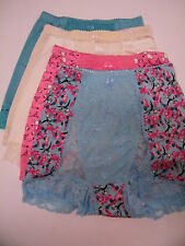 """Rhonda Shear """"Pin-Up Girl"""" 5-pack Control Lace Panty-FRENCH WHIMSEY-Large-NEW"""