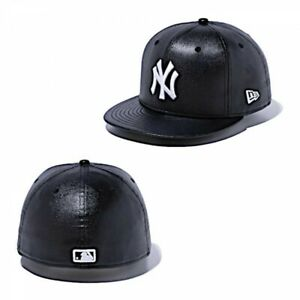 NEW ERA 59FIFTY Fitted Cap New York Yankees Synthetic Leather Black From Japan