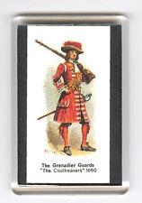 GRENADIER GUARDS UNIFORM 1660  FRIDGE MAGNET