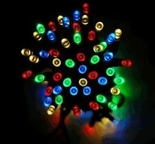 50 LED MULTI COLOURED STRING LIGHTS SOLAR POWERED FAIRY LIGHTS GARDEN PARTY XMAS