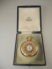 Top Quality gold plated Half Hunter Pocket Watch. Asprey c1915