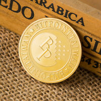 Bitcoin Gold plated Coin Collectible Challenge Coin Commemorative Art Gifts XJ