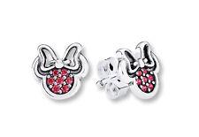 Genuine Pandora Disney Sterling Silver Minnie Mouse Stud Earrings - 290580CZR
