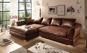 Big Sofa Vintage Wildlederoptik mit Boxspringverpolsterung neu.