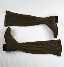 Forever 21 Brown Knee High Boots Low Heels Comfortable Soft Women Size 8