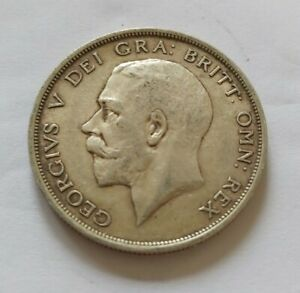 George V Sterling Silver 1915 Halfcrown In Good Collectable Condition. L25