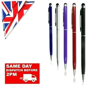 5 x 2 in 1 STYLUS INK BALL POINT PEN FOR IPHONE TABLET SAMSUNG HTC HUAWEI MOBILE