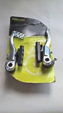 V-Brake Arms Set Silver Alloy Brake Pads for both Front & Rear by Fellia