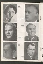 Programme Colon Teather Opera Max Lorenz Emmanuel List 1938