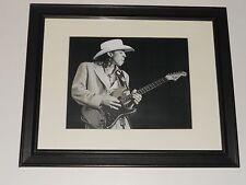 "Framed Stevie Ray Vaughan 1988 On Stage SRV Guitar God 14""x16.5"" RARE!"