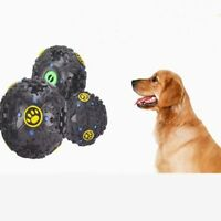 Lovely Pet Dog Cat Play Squeaky  Quack Sound Chew Treat Holder Funny Ball