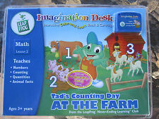 NEW Leap Frog Imagination Desk Tad's Counting Day at the Farm, Book & Cartridge
