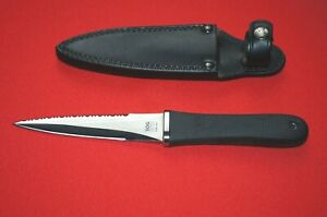 Sog S14 Pentagon Knife w/ Boot Clip Sheath Seki Japan Early Edition Excellent
