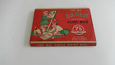 VINTAGE il Big Eagle'S Studente PAINT BOX con maniche di cartone