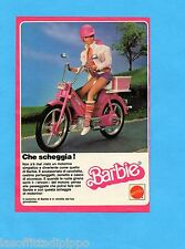 TOP985-PUBBLICITA'/ADVERTISING-1985- MATTEL - BARBIE IL MOTORINO