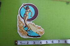 Sexy California Surfer Girl Lady ALMERA Pop Art Car Racing Surfing Skate STICKER