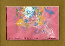 """BIRD IN FLIGHT"" by RUTH FREEMAN  MONO PRINT 5"" X 7"" WITH MAT"