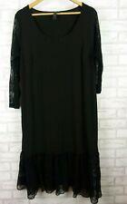 TS tunic Dress/ tunic top black lace lace arm size S, 16